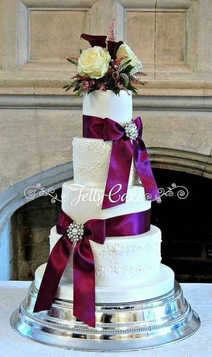 46 Ideas Wedding Cakes Lace And Pearls Ribbons -