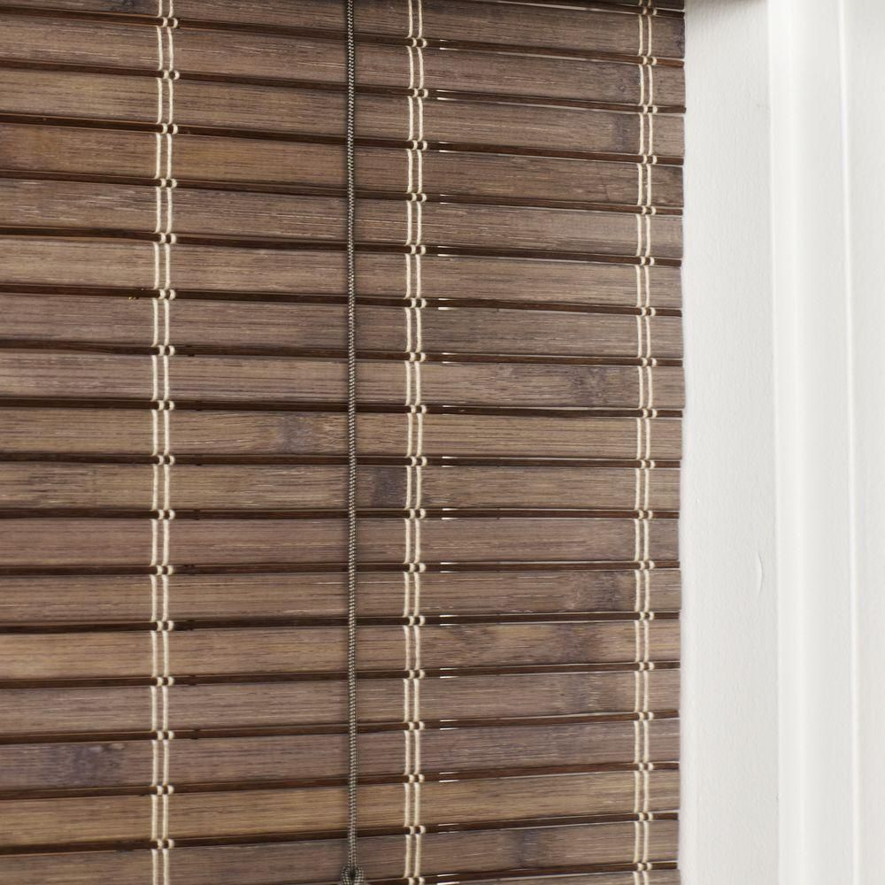 Home Decorators Collection Driftwood Flatweave Bamboo Roman Shade 47 In W X 48 In L Actual Size 46 5 In W X 48 In L 0259666 465x48 Bamboo Roman Shades Bamboo Blinds Woven Wood Shades