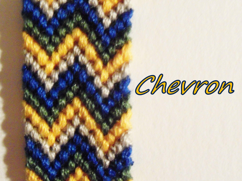 Pulsera de Hilo:Doble Chevron | Pulseras de hilo, Pulseras ...