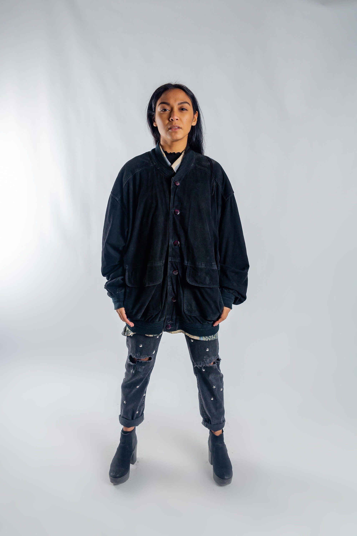 Vintage Black Suede Bomber Jacket 80s Suede Blouson Jacket Oversized Women S Leather Jacket Men S Suede Button Up Jacket Size L Leather Jackets Women Suede Bomber Jacket Suede Bomber [ 3000 x 2000 Pixel ]