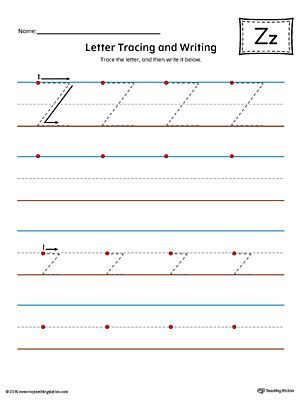 Letter Z Tracing And Writing Printable Worksheet Color WorksheetPractice The Uppercase Lowercase In This