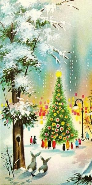 Vintage Christmas Card by loretta Retro Things Pinterest