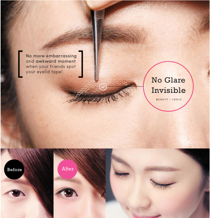 Check out this newest invisible fiber lace eyelid tape