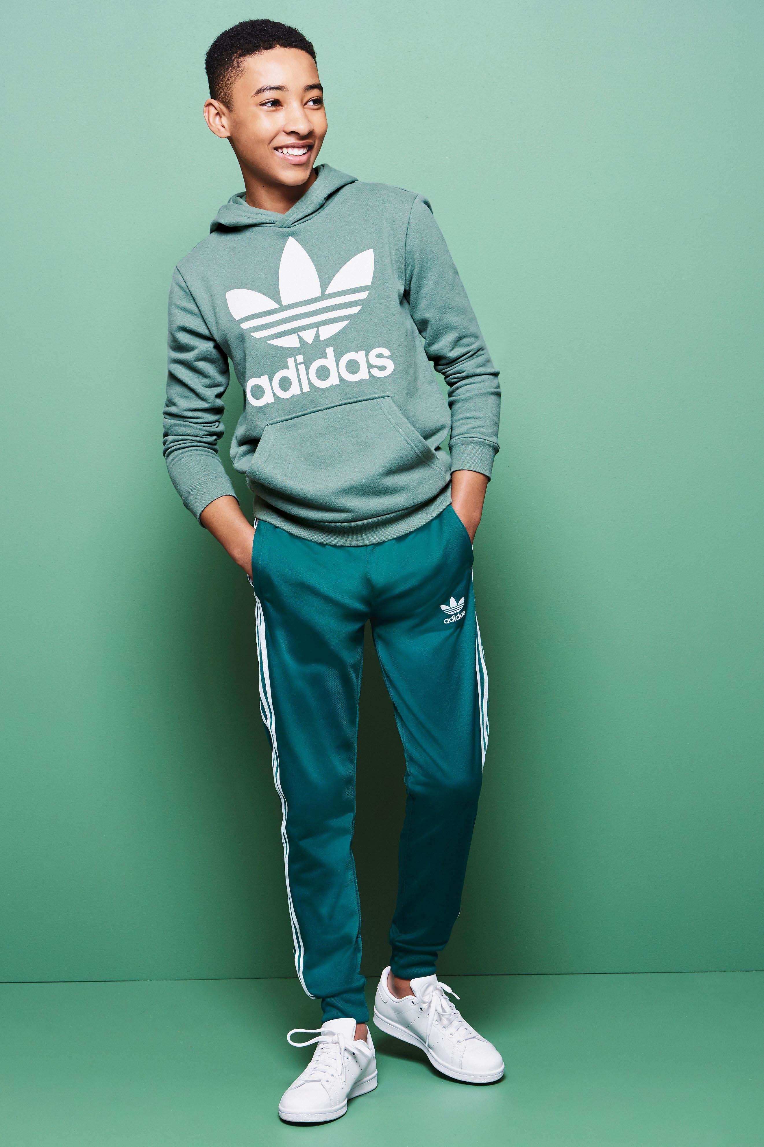 Boys adidas Originals Green Superstar Track Pant - Green   Pants ...