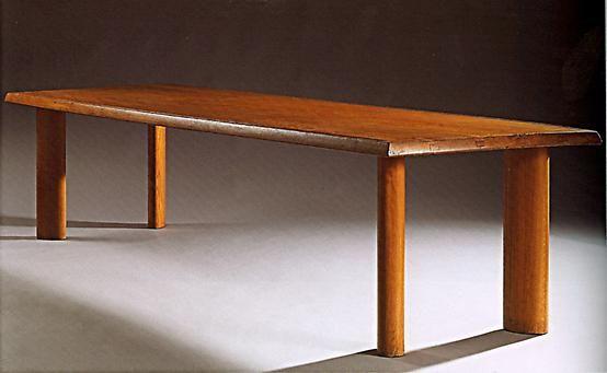 Charlotte Perriand, Table gorge, Oak, c.1954, 89.5L x 33.5W x 29D inches