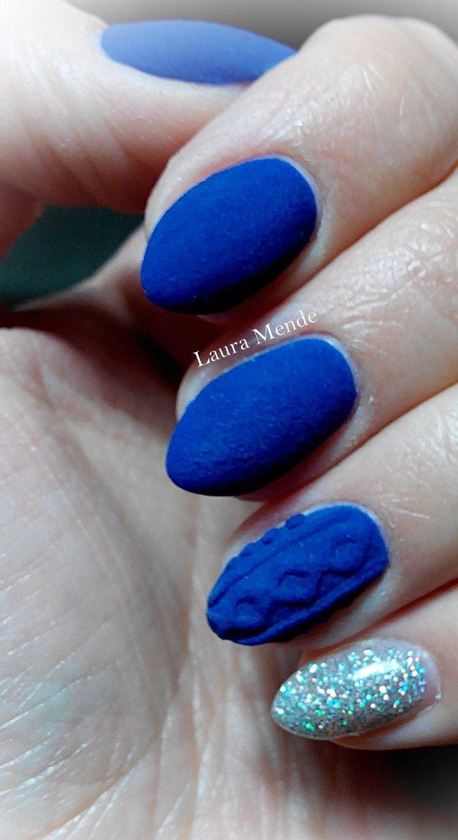 Niebieskie Paznokcie Kobaltowe Paznokcie Matowe Paznokcie