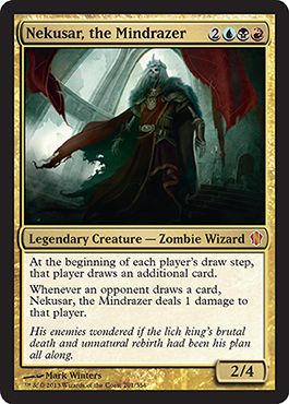 mtg commander 2013 nekusar the mindrazer legendary creature