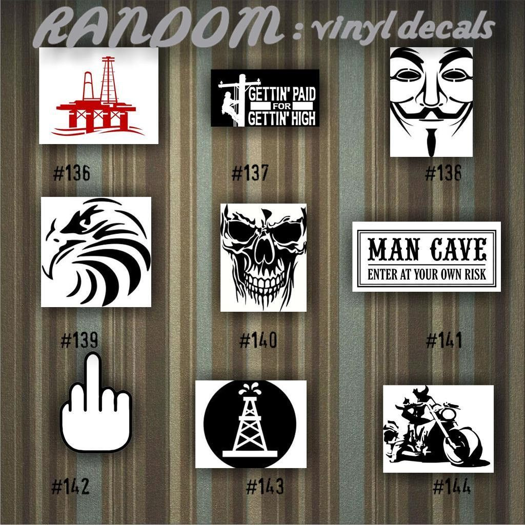 RANDOM Vinyl Decals Car Decal Vinyl Sticker Car - Car window vinyl decals custom
