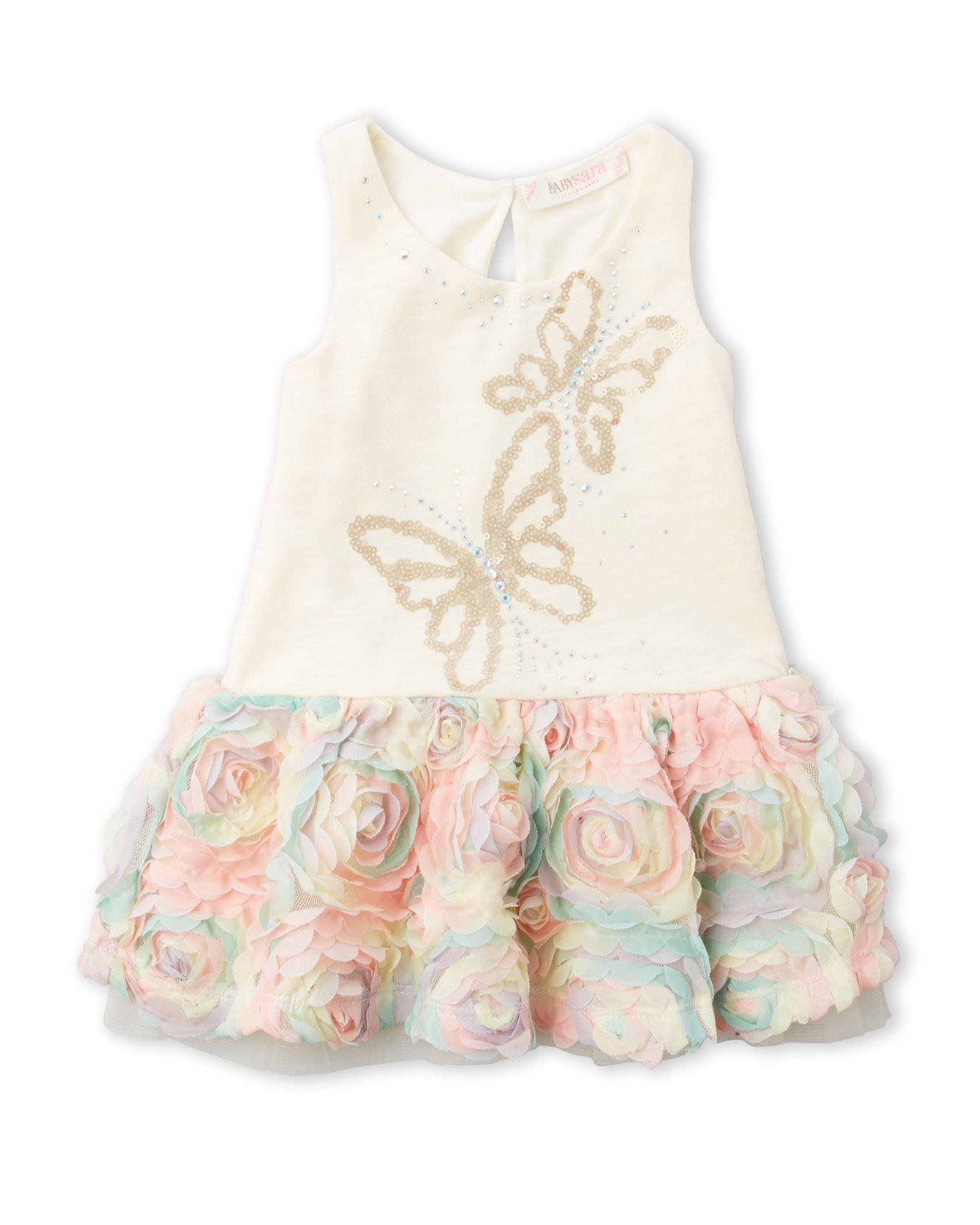 Baby Sara Infant Girls Butterfly Rosette Dress