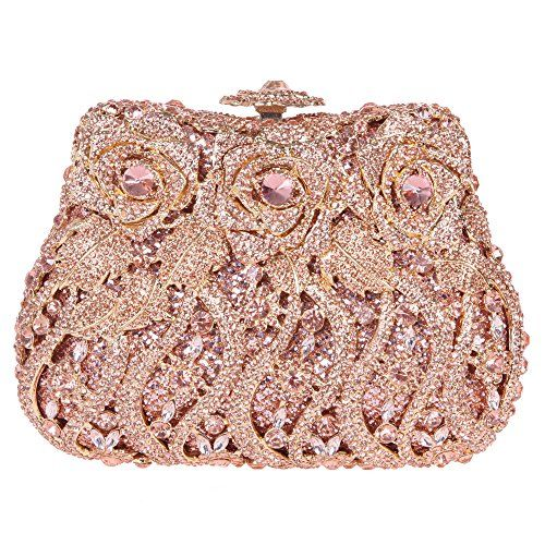 Fawziya Rose Clutch Purse Luxury Crystal Evening Clutch Bags ...