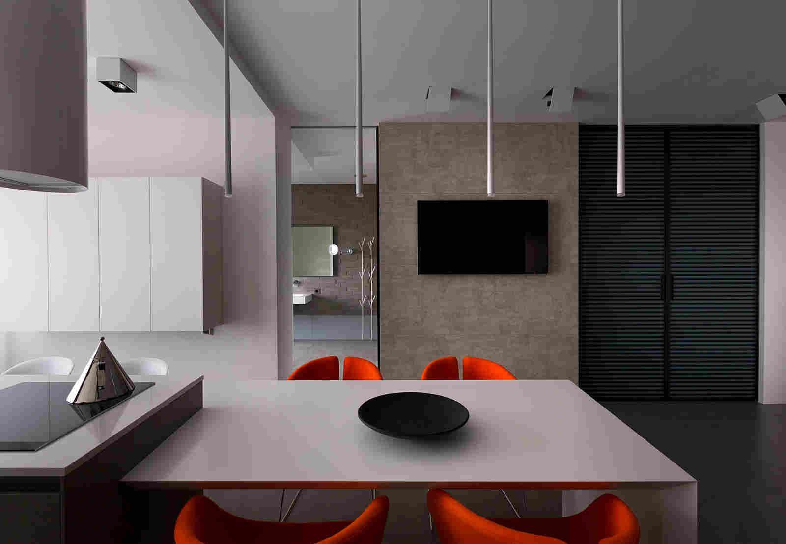O apartamento em Dnepropetrovsk em Azovskiy & Pahomova arquitetos
