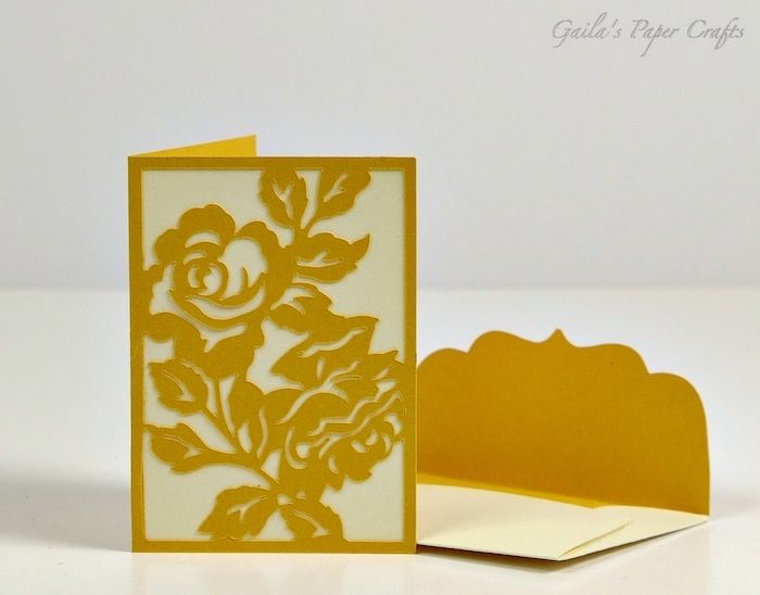 Gift Enclosure Made Using The Rose Card From Anna Griffin Garden Flowers  Cricut Cartridge By Gailau0027s