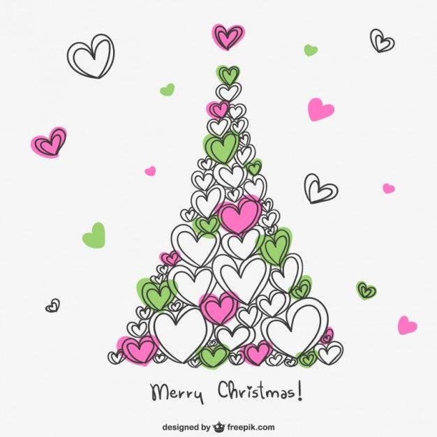 Lade Frohe Weihnachten-karte Mit Herz kostenlos herunter