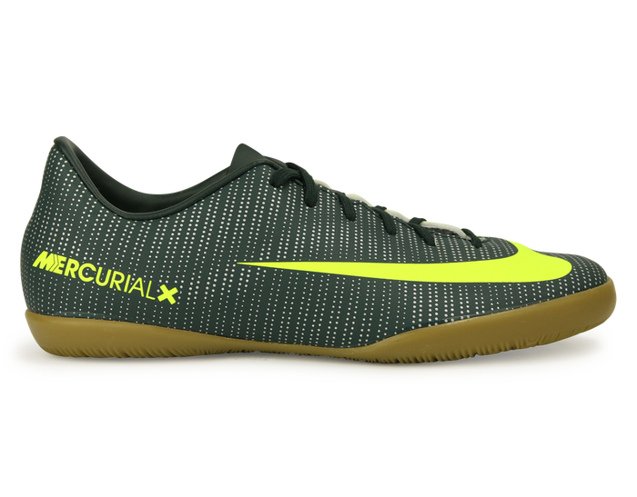 Nike Kids Mercurialx Victory Vi Cr7 Indoor Soccer Shoes Seaweed Volt Hasta White Soccer Shoes Nike Kids Futsal Shoes