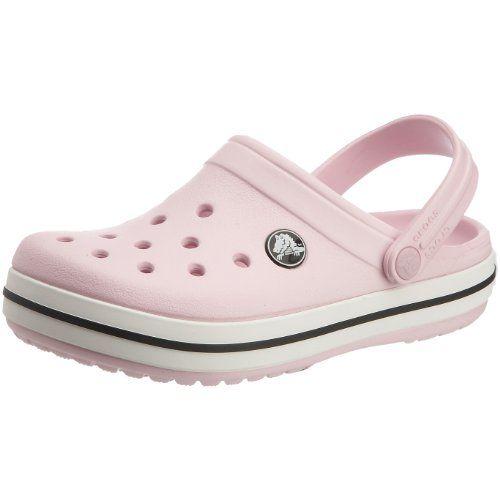Zapatos rosas vintage Crocs Crocband infantiles fOgVT