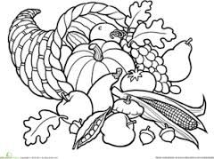 Resultado De Imagen Para Cornucopia Coloring Pages Fall