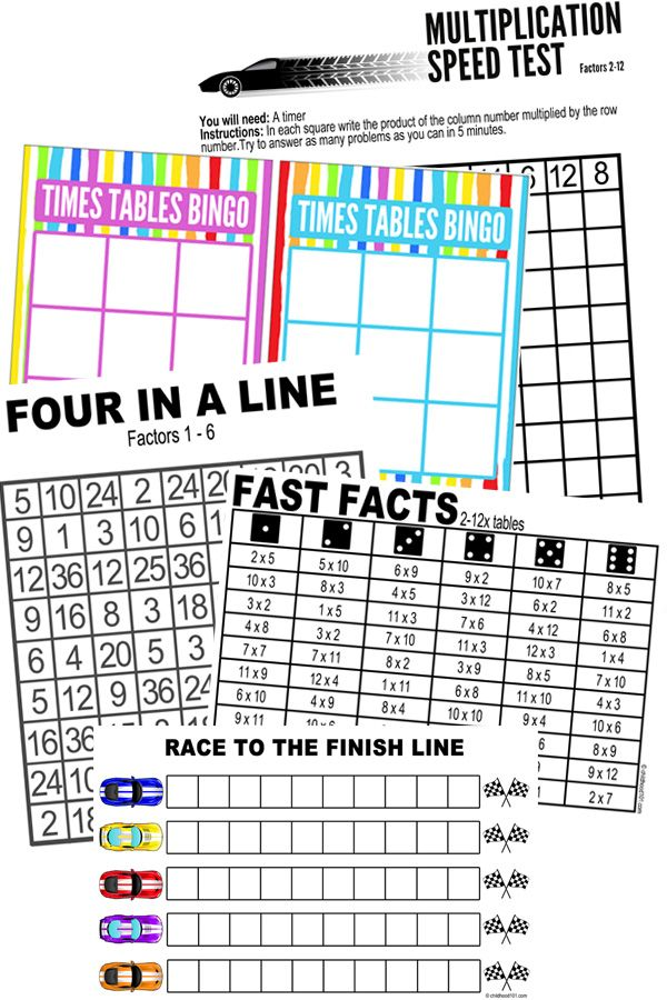 Printable Maths Games For Multiplication Learning  Multiplication