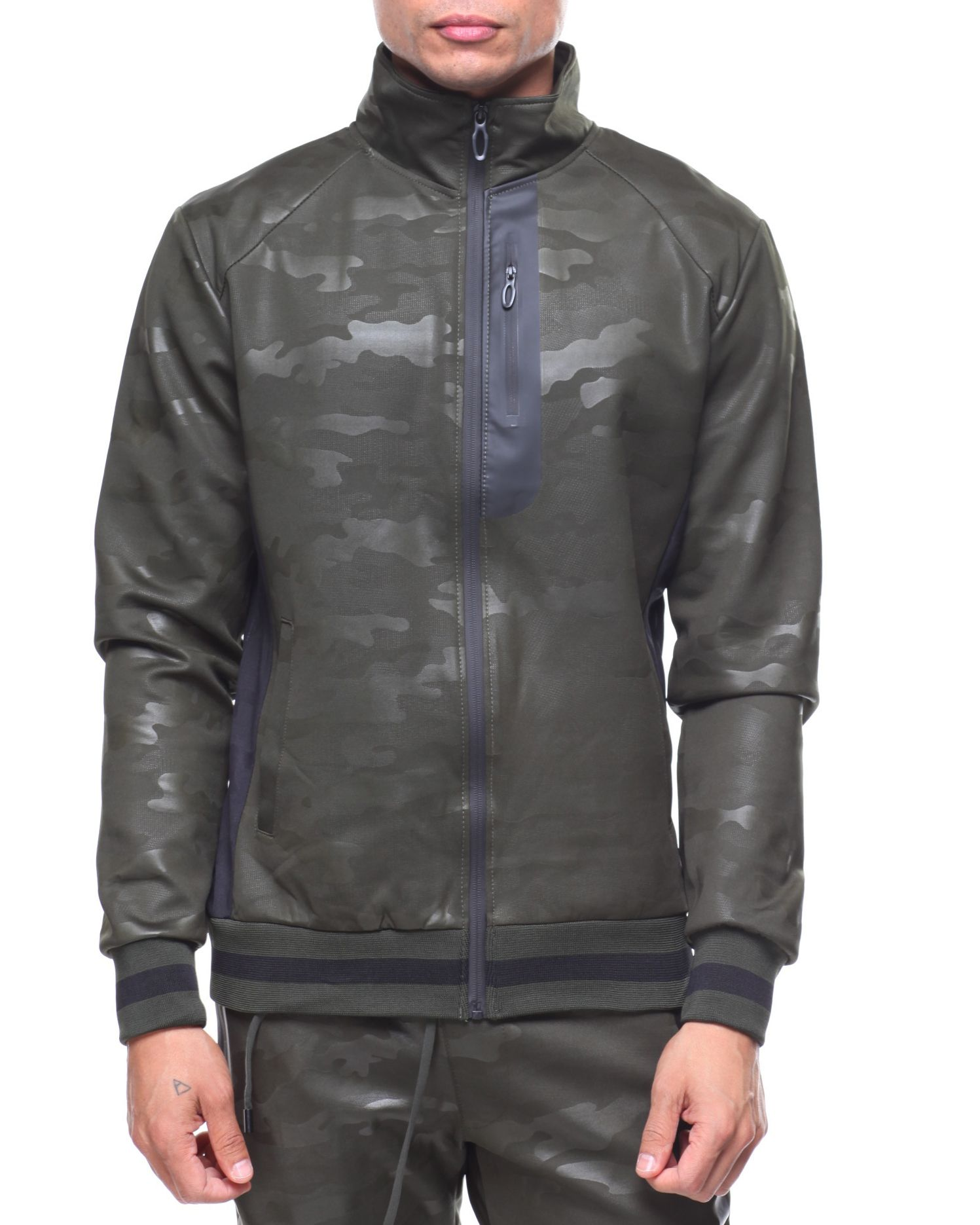 Camo Jacquard Track Jacket Men S Outerwear From Buyers Picks Find Buyers Picks Fashion More At Drjays Com Jackets Mens Jackets Track Jackets [ 1871 x 1497 Pixel ]
