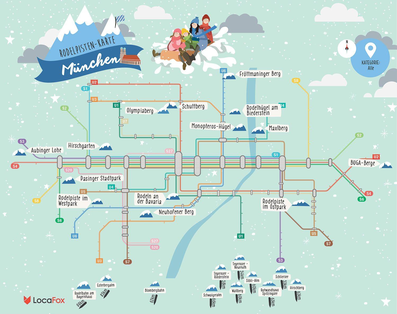 Rodelpisten Karte Rodeln Schlittenfahren In Munchen Schlittenfahren Munchen Schlitten