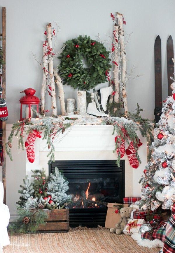 Weihnachtsdeko Landhausstil wohnzimmer dekoideen reichliche - wohnzimmer deko weihnachten