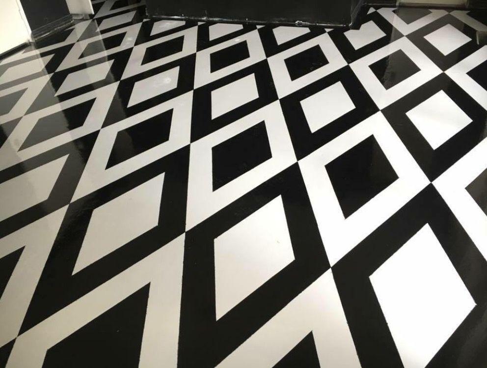 Custom Black And White Epoxy Flooring Abilene Texas By Solid Impressions Epoxy Floor Nature Iphone Wallpaper Metallic Epoxy Floor