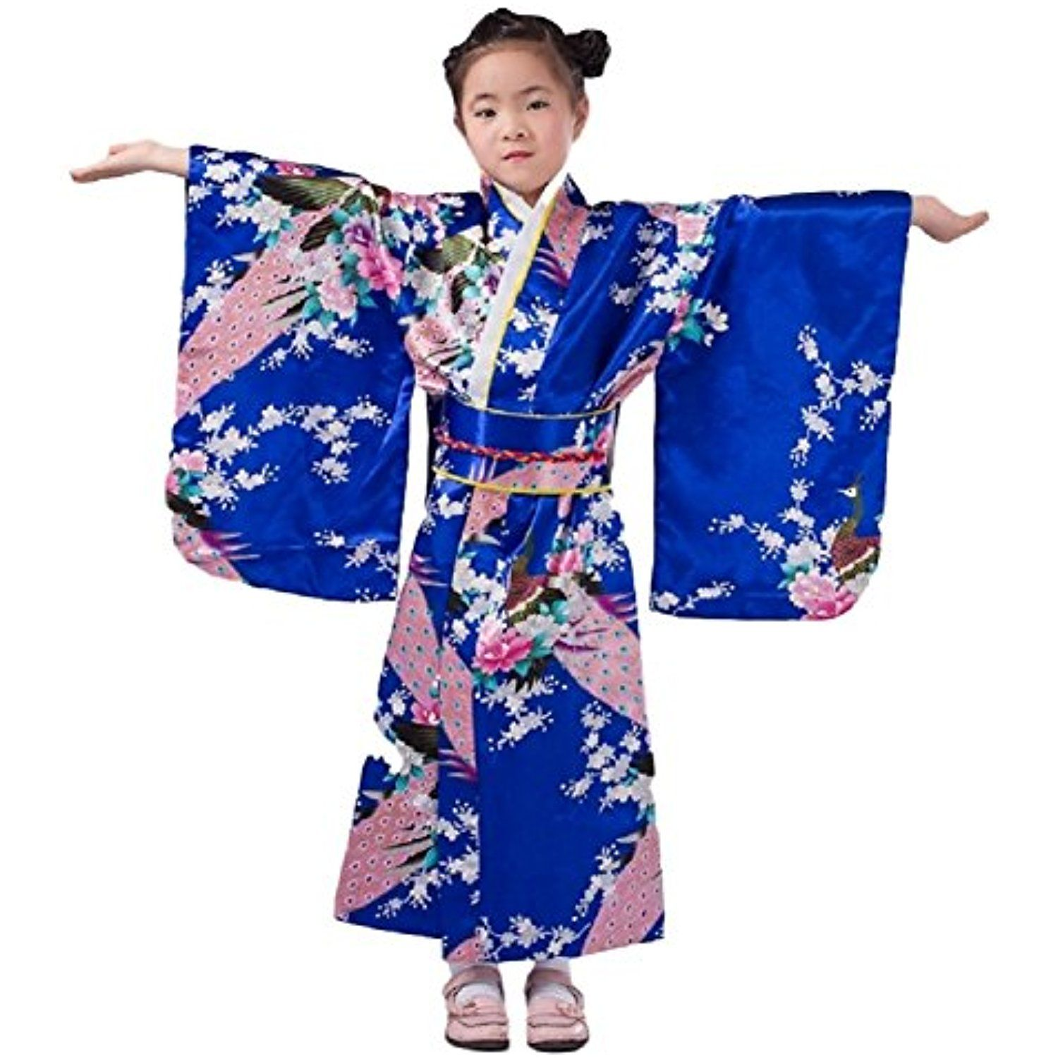 Fashion style Traditional Japanese dress for kids for girls