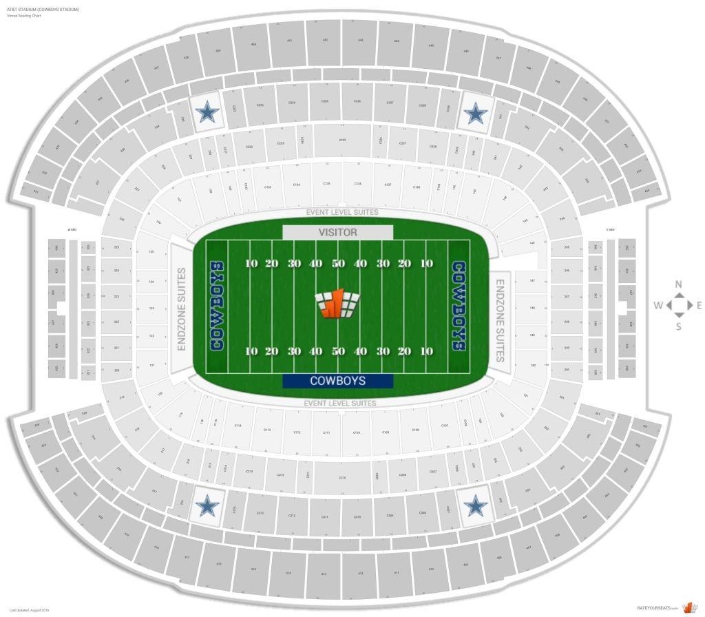 Cowboys Stadium Interactive Seating Chart