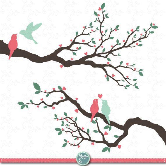Wedding Clip Art Tree Packlove By Yenzarthaut 5 00