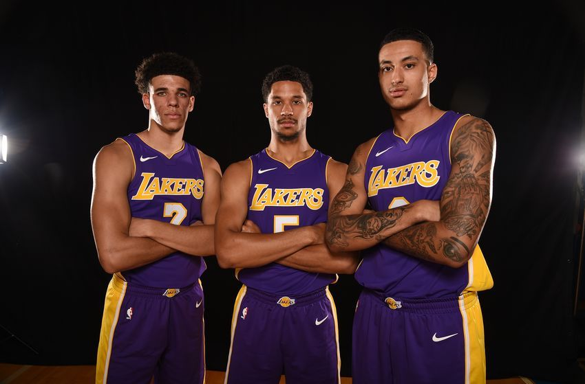 Los Angeles Lakers Hart Kuzma And Ball Hope For Playoff Stage Rather Than Virtual Stage Nba Lakeshow Los Angeles Lakers Basketball Information Lakers