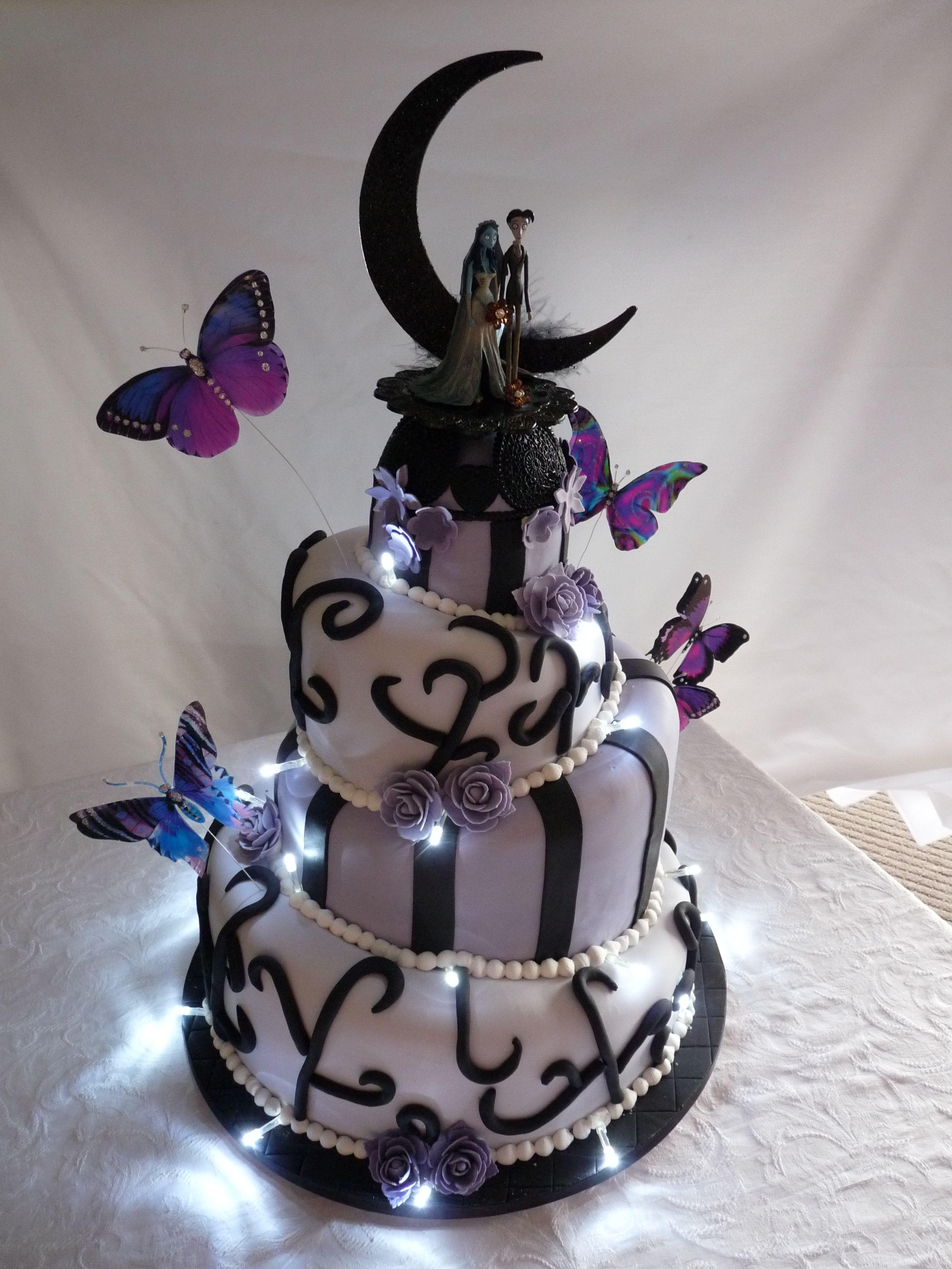 corpse bride wedding cakemandy lynn | edible art