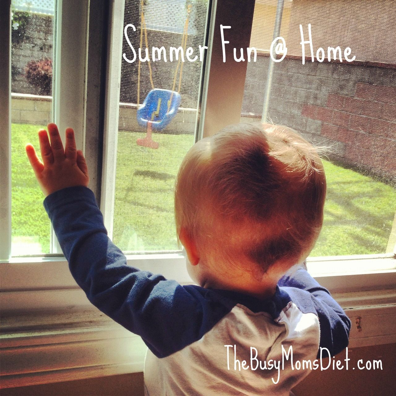 8 simple ideas for summer fun at home. #kids #summer TheBusyMomsDiet.com