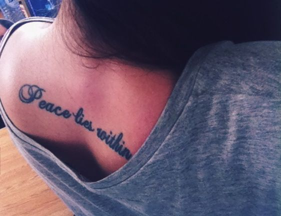 17 Best Buddha Quotes Tattoo On Pinterest: Buddha Quote Tattoo. Peace Lies Within.