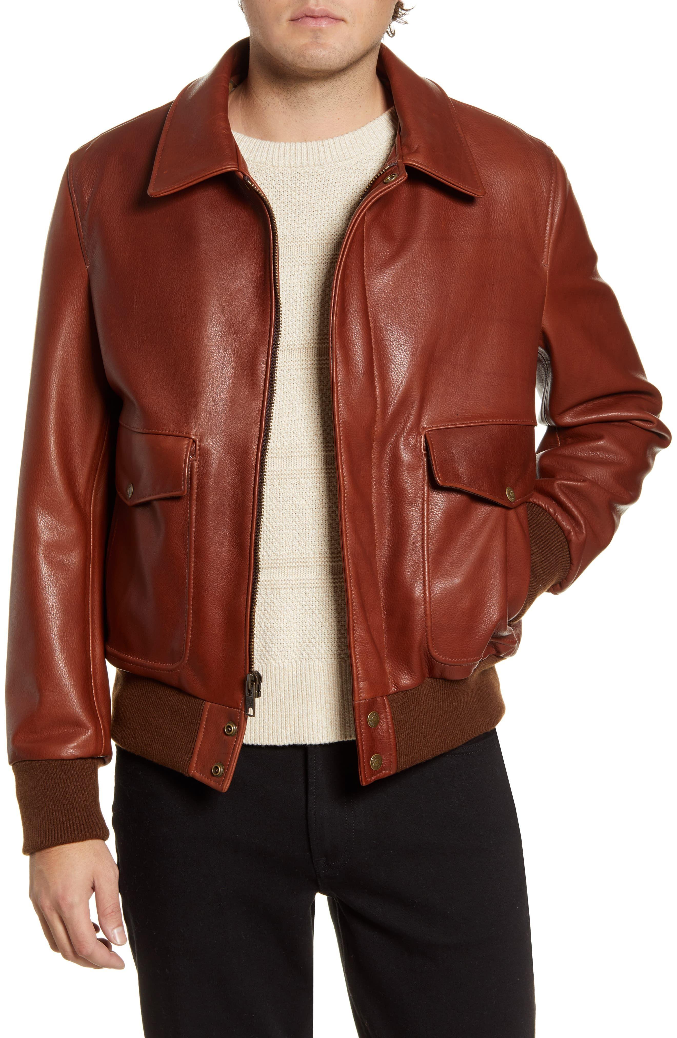 Schott Nyc Pebble Texture Leather Bomber Jacket Nordstrom In 2021 Leather Bomber Jacket Tan Leather Jackets Leather Jacket Men [ 4048 x 2640 Pixel ]