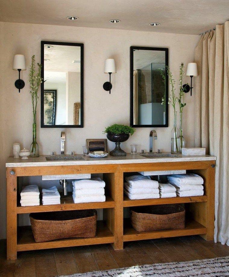 Moderne Badezimmermöbel im rustikalen Stil - 49 Modelle ...