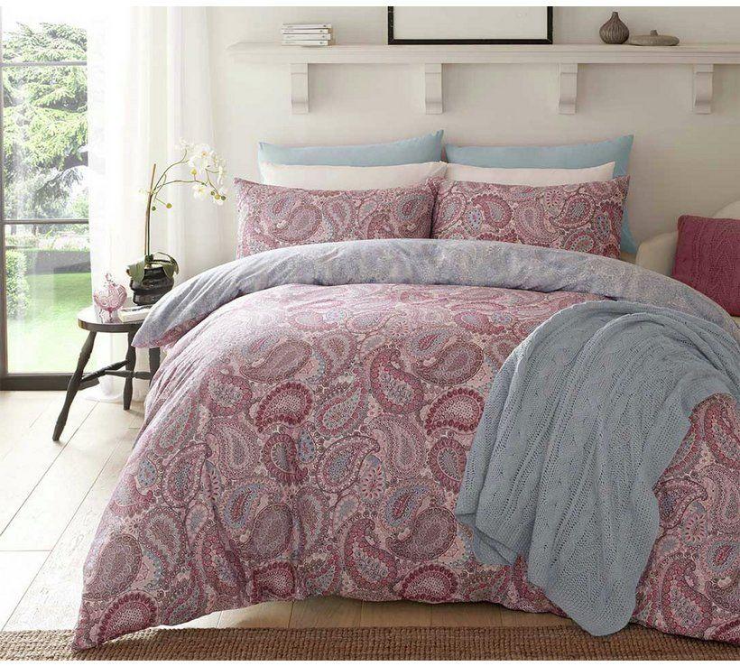 Buy Pieridae Purple Paisley Bedding Set Kingsize At Argos Co Uk Your Online Shop For Duvet Cover Sets Bed Linens Luxury Purple Duvet Cover Paisley Bedding