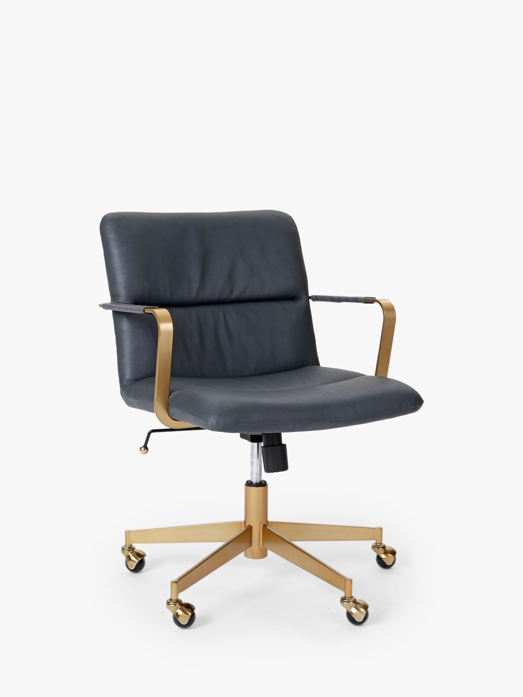 West Elm Cooper Mid Century Leather Office Chair In 2020 Chair