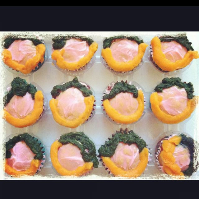 Our #sweetpotato and #spinach #leprechaun #pupcakes!!  #yum