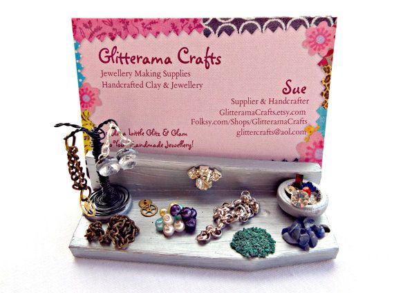 Business Card Holder Jewelry Maker Display Business Card
