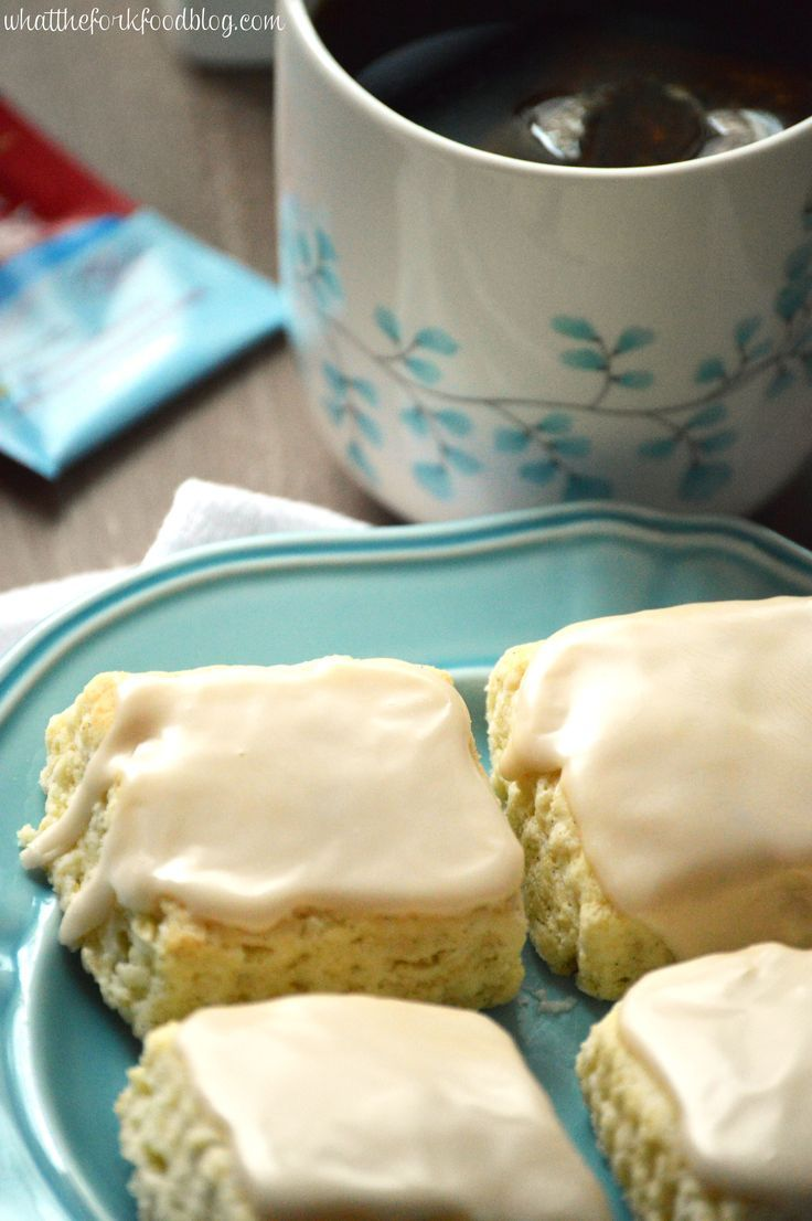 These Vanilla Bean Scones with Black Tea Glaze make the perfect breakfast of snack with your afternoon tea. You'd never know these were gluten free. From What The Fork Food Blog  #glutenfree #AmeriacasTea #ad