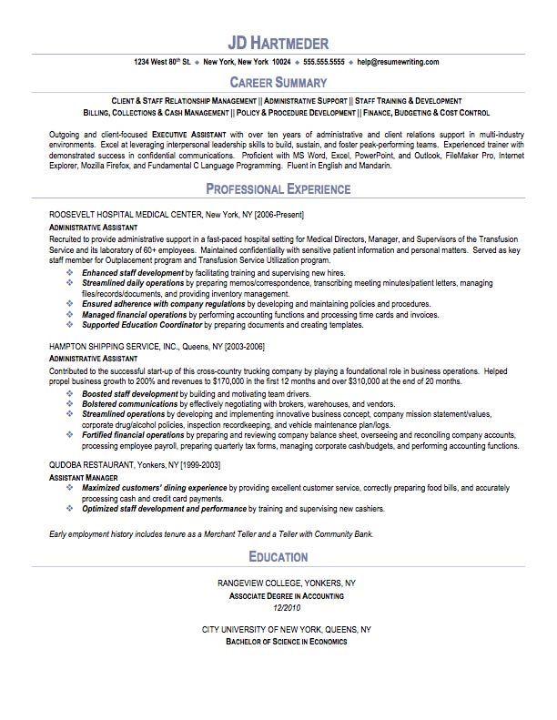 Executive Assistant Resume Samplecareer Resume Template Career Resume Template Lebenslauf Beispiele Lebenslauf Fahigkeiten The Professional