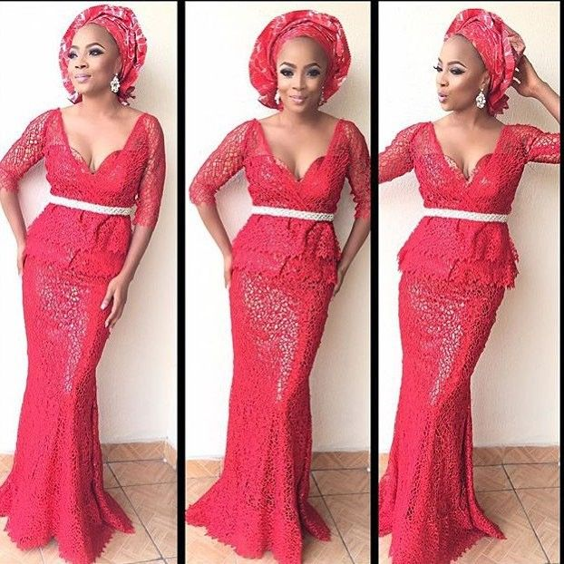44f9aa296c7ee Top Ten Beautiful French Lace Aso Ebi Styles For Ladies | African ...