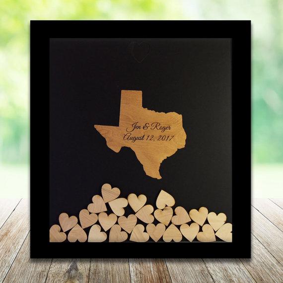 Texas Wedding Drop Box Guest Book Frame Weddings Etsymktgtool Http