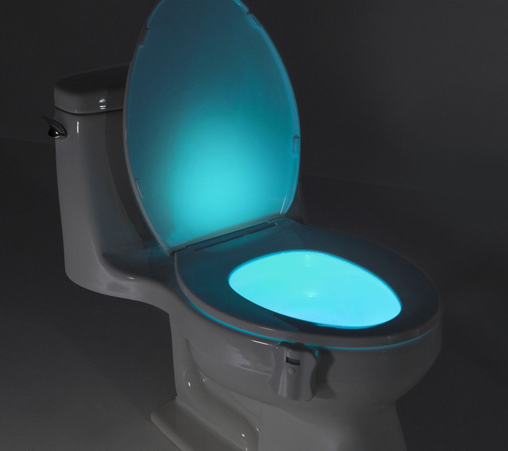 Bathroom Night Light Ideas Part - 24: The GlowBowl Will Transform ANY Toilet Into A Nightlight. No More Missing  Your Target Or Stumbling Around In The Dark In Your Bathroom U2013 The GlowBowl  Is ...