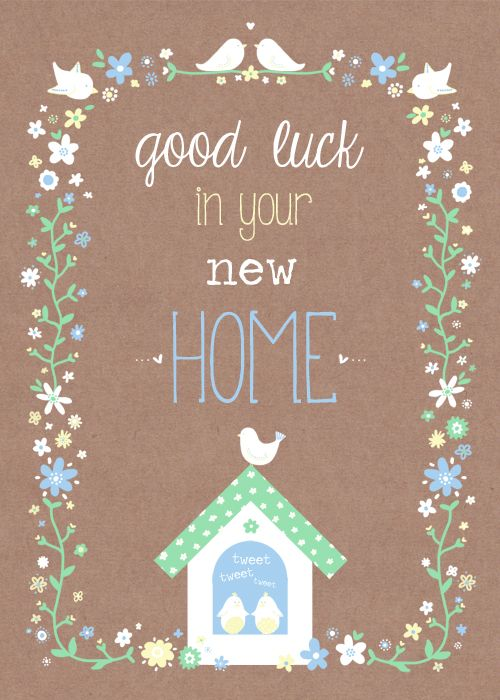 New Home Card New Home Cards New Home Wishes