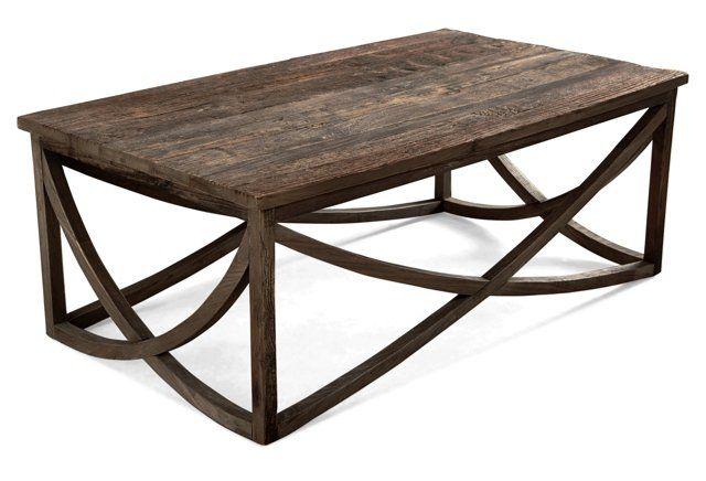Lila  Coffee Table Reclaimed Wood  Interior design