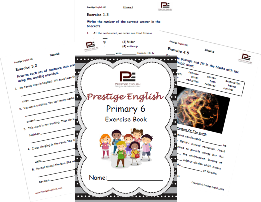 English Exercise Book Primary 6 Approximately Ages 10