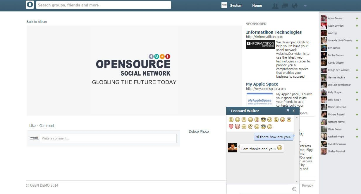 free open source social network software