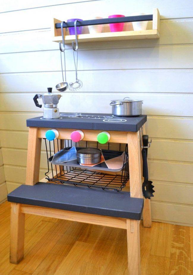 Kinderzimmer Ikea Ideen | Ideen Kinderzimmer Ikea Hacks Trittleiter Spielkuche Tafelfarbe