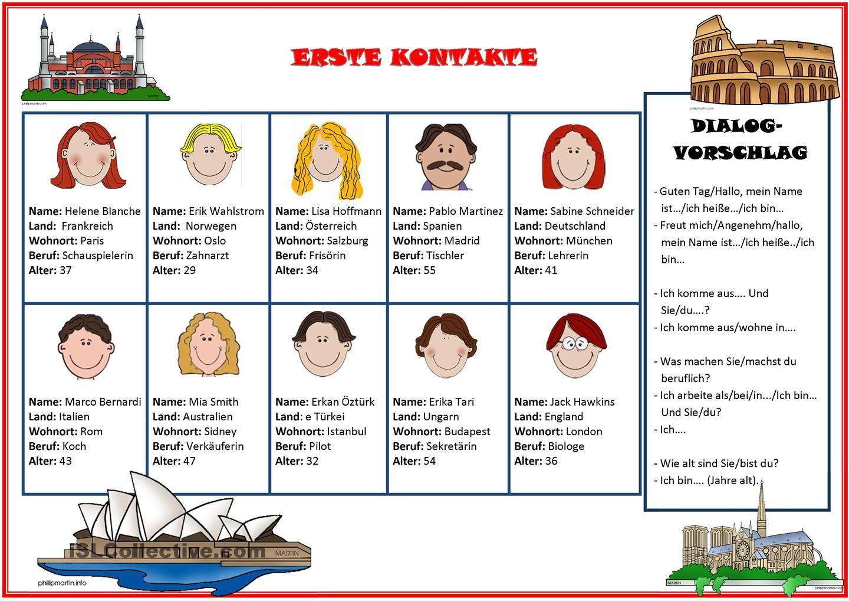 Erste Kontakte | Deutsch, Lernen und Deutsch lernen