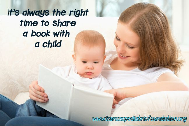 Anytime is a great time for a book! www.kansaspediatricfoundation.org